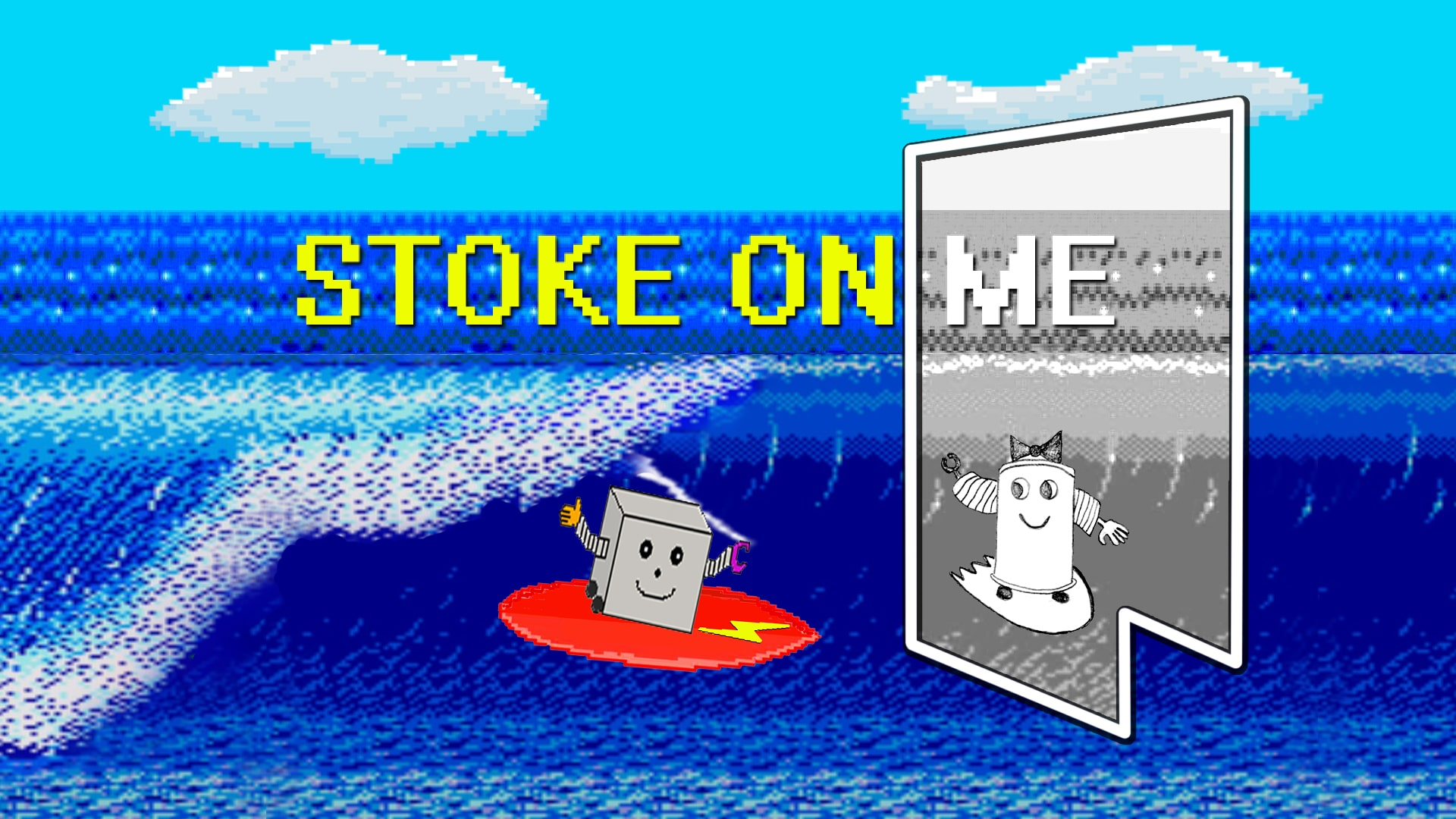 The Shorties entry: Stoke On Me // By Martin Jackson. An A-Ha parody/homage re-imagined as an environmentally themed surf movie. Part stop motion 100% stoke