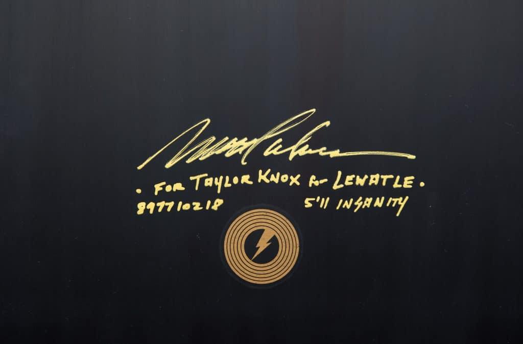 Album surfboard for Lewatle