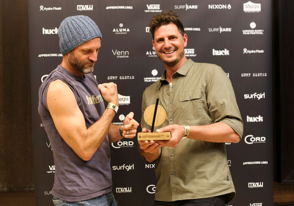 Director Rick Wall walked away with the award for Best Documentary for his beautiful film of fellowship Satori with Big wave surfer Dougal Paterson / Image Surf Sistas