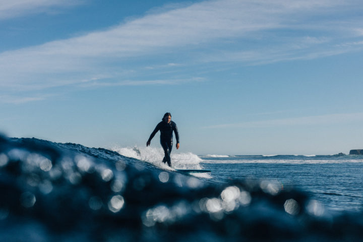 Colin Macleod surfing the Hebrides photo by Jack Johns